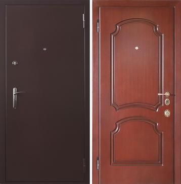 входные металлические двери с порошковым напылением мдф шпон