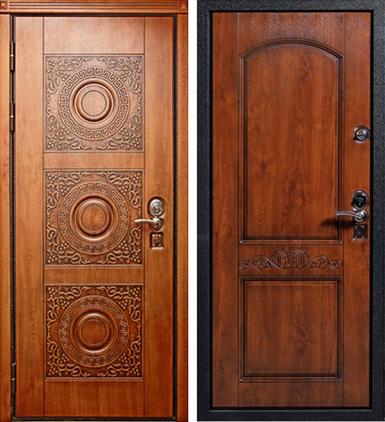 стальные двери фрезерованная мдф с двух сторон