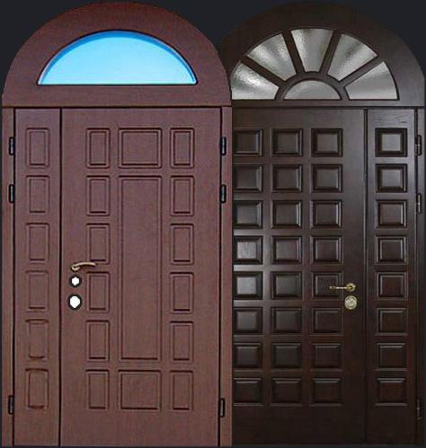 клинские двери стальные арочные