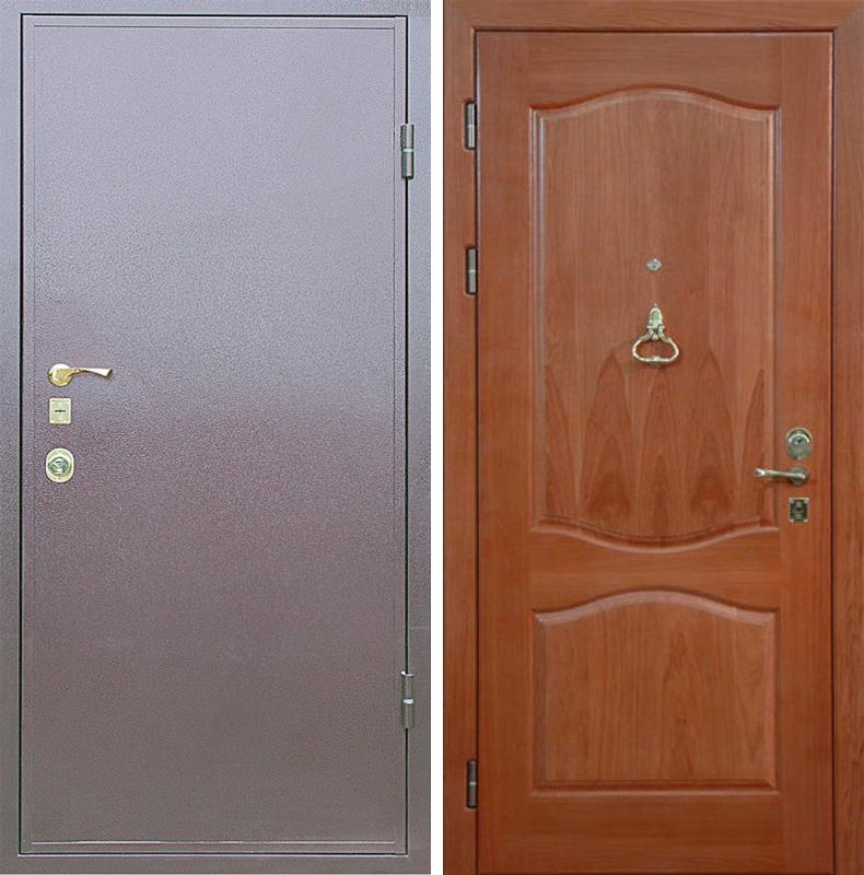 стальные двери из шпона внутри