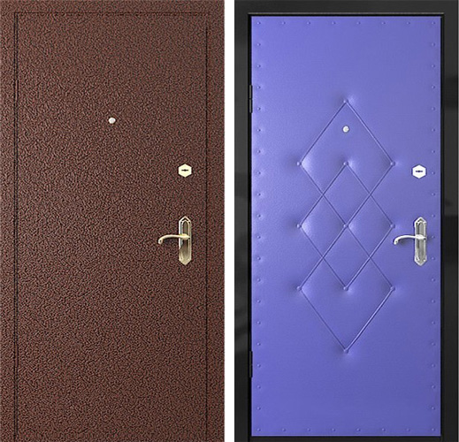 металлические двери с порошковым напылением для дачи цены