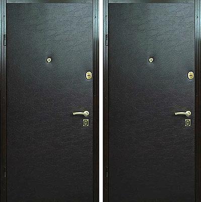 металлическая дверь обитая под дерево с двух сторон цены