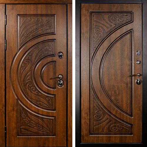стальные двери с резьбой