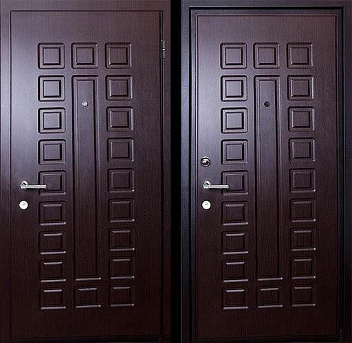 металлическую квартирную дверь из клина