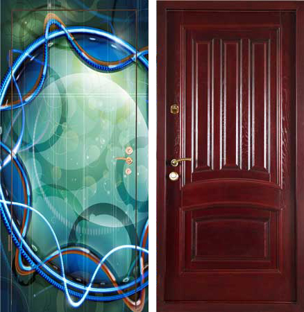 оформление металлической двери