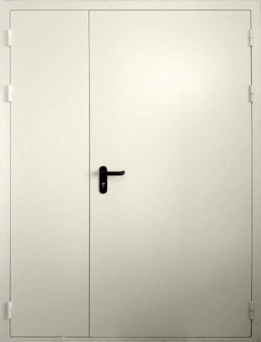 металлическая противопожарная дверь двухстворчатая внутренняя