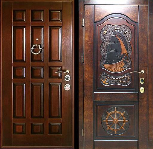 входные двери из массива стальные элитные в квартиру