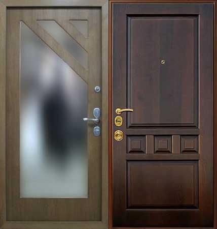 недорогие железные двери с отделкой мдф металл 3мм